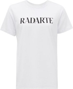Radarte-print Jersey T-shirt - Womens - White