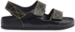 Milano Leather Sandals - Womens - Black