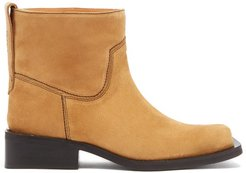Low Mc Suede Ankle Boots - Womens - Beige