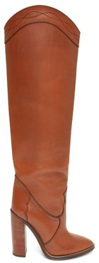 Kate Knee-high Leather Boots - Womens - Tan
