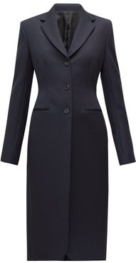 Panois Slim-fit Single-breasted Coat - Womens - Navy