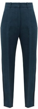 Hamlet High-rise Crepe Trousers - Womens - Blue