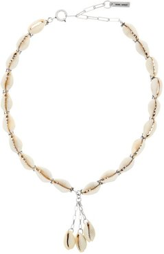 Oscar Shell Necklace - Womens - Light Yellow