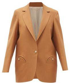 Cambria Weekend Single-breasted Blazer - Womens - Camel