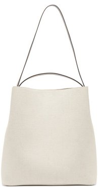 Sac Canvas And Leather Tote Bag - Womens - White