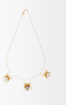 Hecate Keshi Pearl & Gold Pendant Necklace - Womens - Pearl