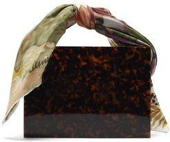 Guaria Mini Tortoiseshell Acetate Box Bag - Womens - Brown Multi