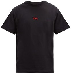 424 - Logo-embroidered Cotton-jersey T-shirt - Mens - Black