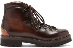 Hand-burnished Leather Boots - Mens - Brown