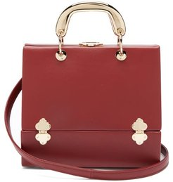 Sixty Six Small Leather Box Bag - Womens - Red