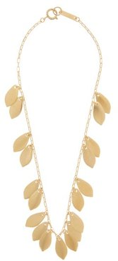 Shaker Leaf-charm Necklace - Womens - Gold