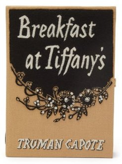 Breakfast At Tiffany's Embroidered Book Clutch - Womens - Black Multi