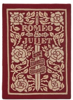 Romeo And Juliet Embroidered Book Clutch - Womens - Burgundy Multi