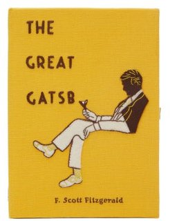 The Great Gatsby Embroidered Box Clutch - Womens - Yellow Multi