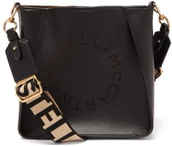 Mini Logo-strap Faux-leather Shoulder Bag - Womens - Black