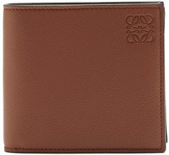 Bi-fold Grained-leather Wallet - Mens - Brown