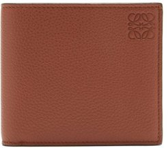Logo-embossed Grained-leather Bifold Wallet - Mens - Brown