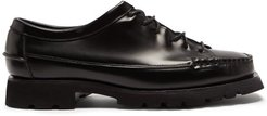 Priego Sport Chunky-sole Leather Oxford Shoes - Mens - Black