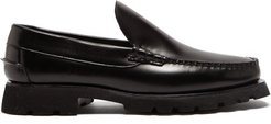 Roque Sport Chunky-sole Leather Loafers - Mens - Black