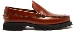 Roque Sport Chunky-sole Leather Loafers - Mens - Tan
