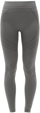 Nurturing High-rise Stretch-jersey Leggings - Womens - Dark Grey