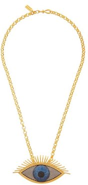 Evil Eye 24kt Gold-plated Pendant Necklace - Womens - Gold