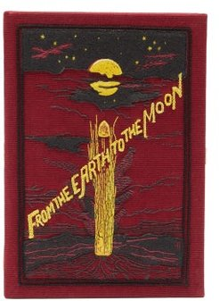 From The Earth To The Moon Embroidered Box Clutch - Womens - Red Multi
