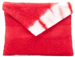 Tie-dye Cotton-terry Envelope Pouch - Womens - Red Multi