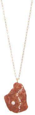 Ignite Diamond & 18kt Gold Necklace - Womens - Brown