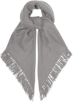 Zila Cashmere And Wool-blend Frayed Scarf - Womens - Grey
