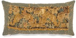 17th-century Tapestry Cotton Cushion - Blue