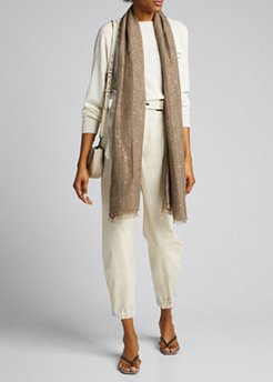Sequined Cashmere Silk Scarf
