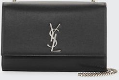Kate Monogram YSL Large Grain Leather Wallet on Chain