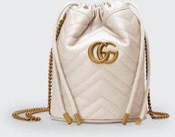 GG Marmont 2.0 Mini Leather Bucket Bag