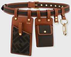 FF Canvas Leather Utility Belt Bag