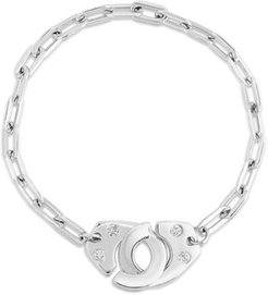 XL Partners in Crime Handcuff Bracelet with Diamonds