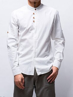 Band Collar Plain Men Shirt stores and shops, clothing stores,