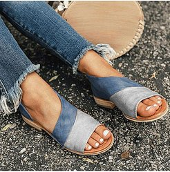 Flat Peep Toe Casual Flat Sandals clothes shopping near me, sale, Color Flat Sandals,