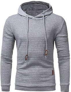 Plain Plaid Long Sleeve Men Hoodie online stores, fashion store, Plain Men Hoodies,