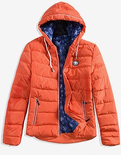 Hooded Contrast Trim Zips Quilted Men Padded Coat stores and shops, shoppers stop,