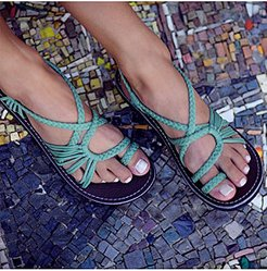 Flat Peep Toe Casual Flat Sandals online shopping sites, fashion store,