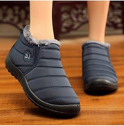 Plain Flat Round Toe Casual Ankle Ankle Boots online shop, clothes shopping near me, Plain Ankle Boots,