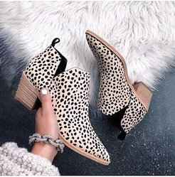Animal Printed Chunky Point Toe Boots shoppers stop, sale,