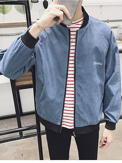 Band Collar Letters Banana Printed Bomber Jacket online shopping sites, shoping,