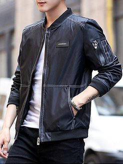 Band Collar Contrast Stitching Men Bomber Jacket shoppers stop, fashion store,