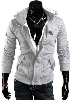 Patch Pocket Fitted Casual Plain Men Hoodie shoping, online sale,