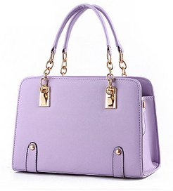 Gold Chain Handle Pu Crossbody Bag clothing stores, fashion store, Plain Shoulder Bags,