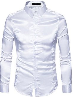Sparkling Plain Turn Down Collar Shirts shop, online shopping sites,