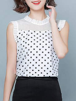 Round Neck Patchwork Sleeveless T-shirt online sale, shoppers stop,