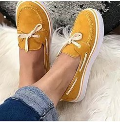 Casual Women Solid Color Lace-up Flat Sneakers sale, clothes shopping near me, Solid Sneakers,